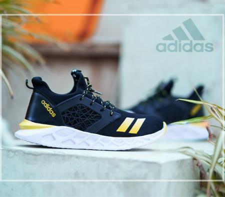 کفش مردانه Adidas مدل Philip (مشکی،زرد)